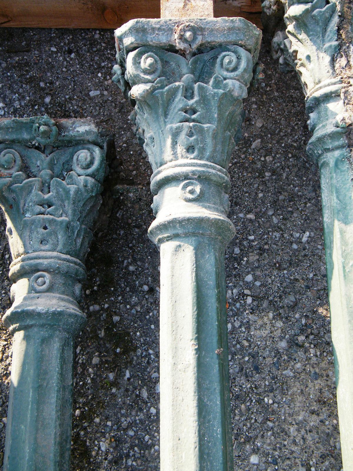 Gusssäule aus der Gründerzeit, sehr schöne verzierte Säule aus Gusseisen