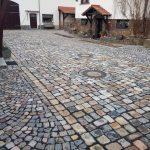 Naturstein Großpflaster & Kleinpflaster bunt, gebraucht, auf einer Fläche, gebrauchte Pflastersteine