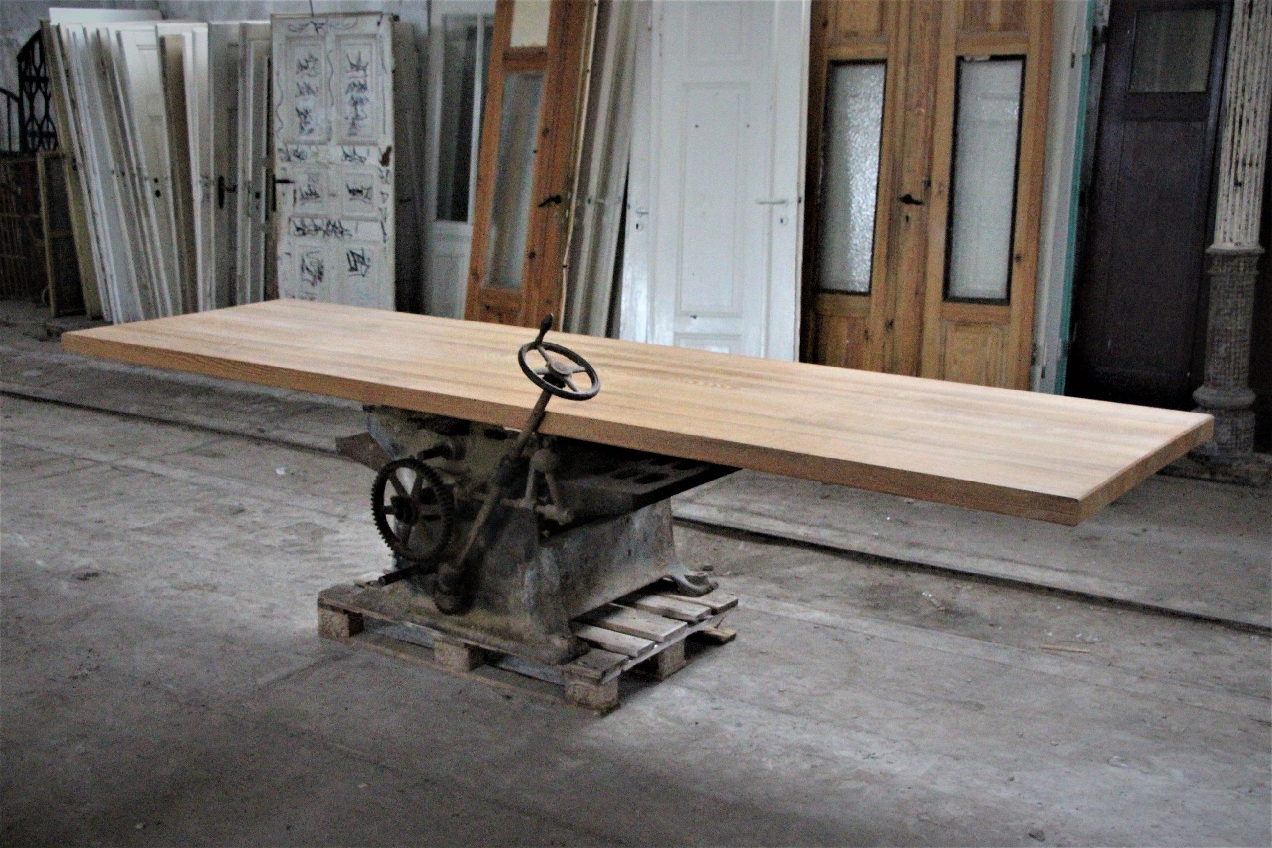 Loft Industrie Designer Tisch Unikat mit Rad