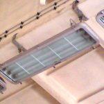 Industrie-Leuchte, ca. 120 cm x 30 cm x 15 cm
