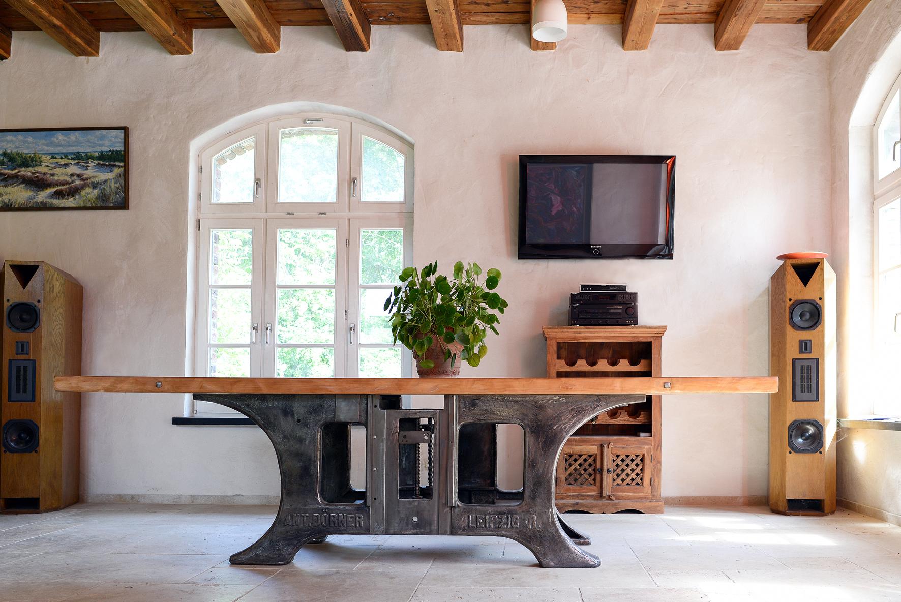 Loft Industrie Designer Tisch Unikat