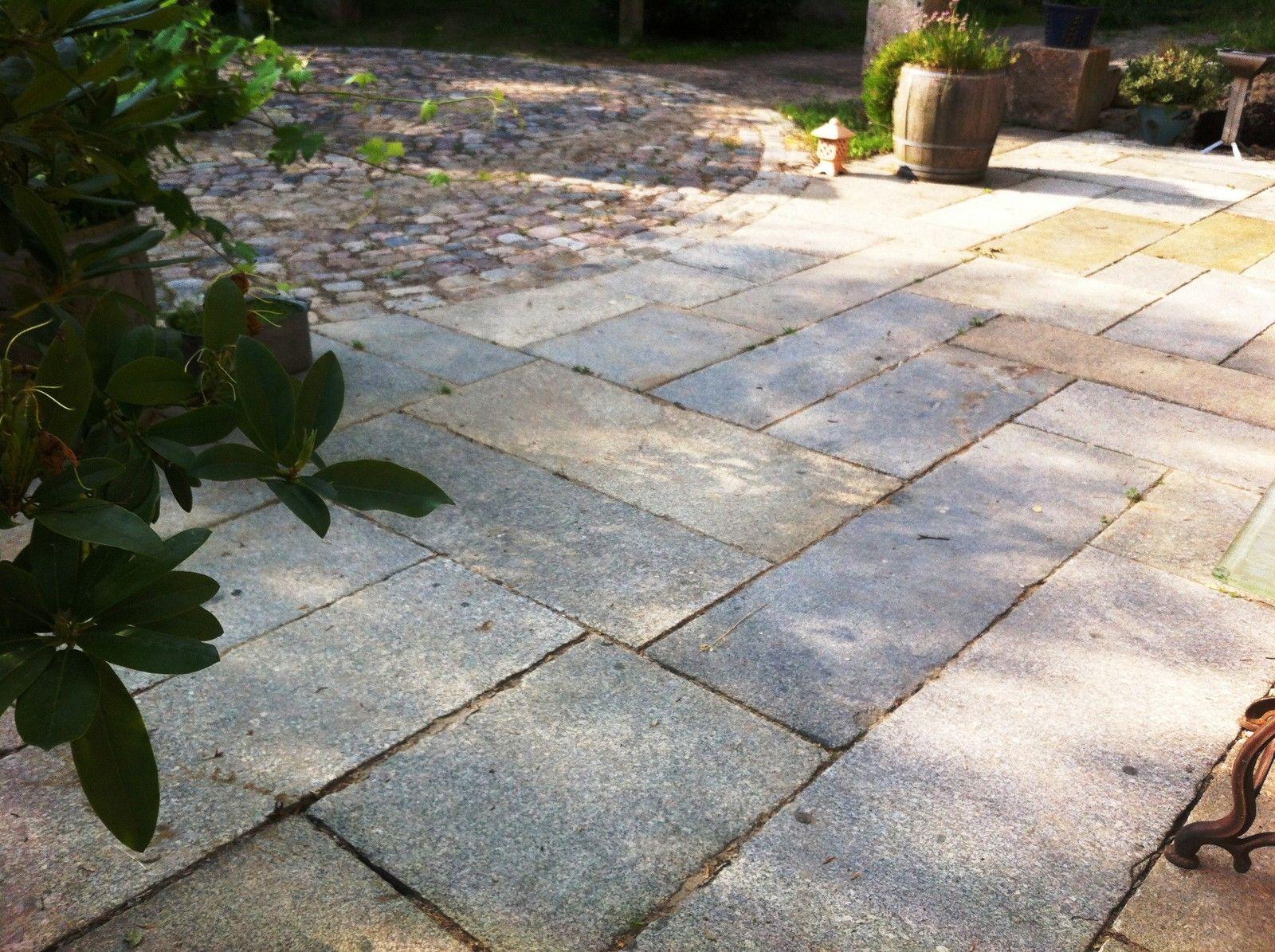 Historische Granitplatten, gebrauchte Krustenplatten, schöne alte Gredplatten