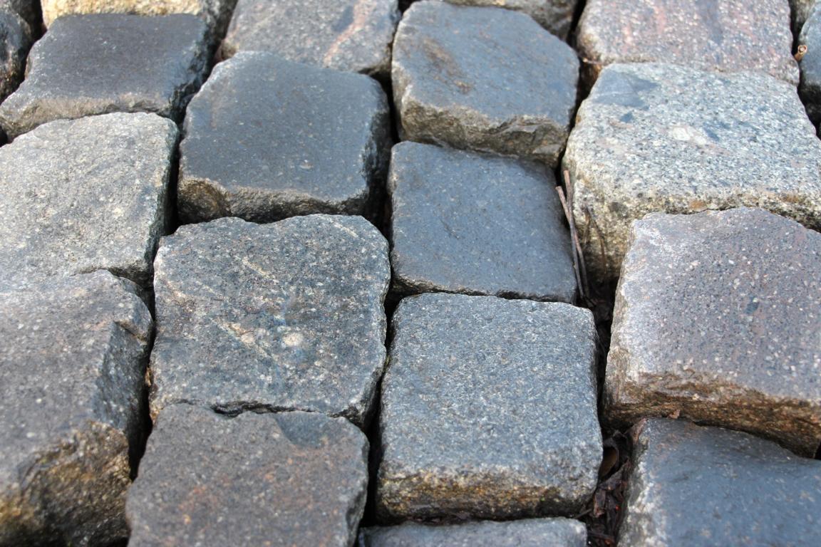 Pflastersteine gebraucht, 9/11er Kleinpflaster, mehrfarbig, glatte Oberfläche