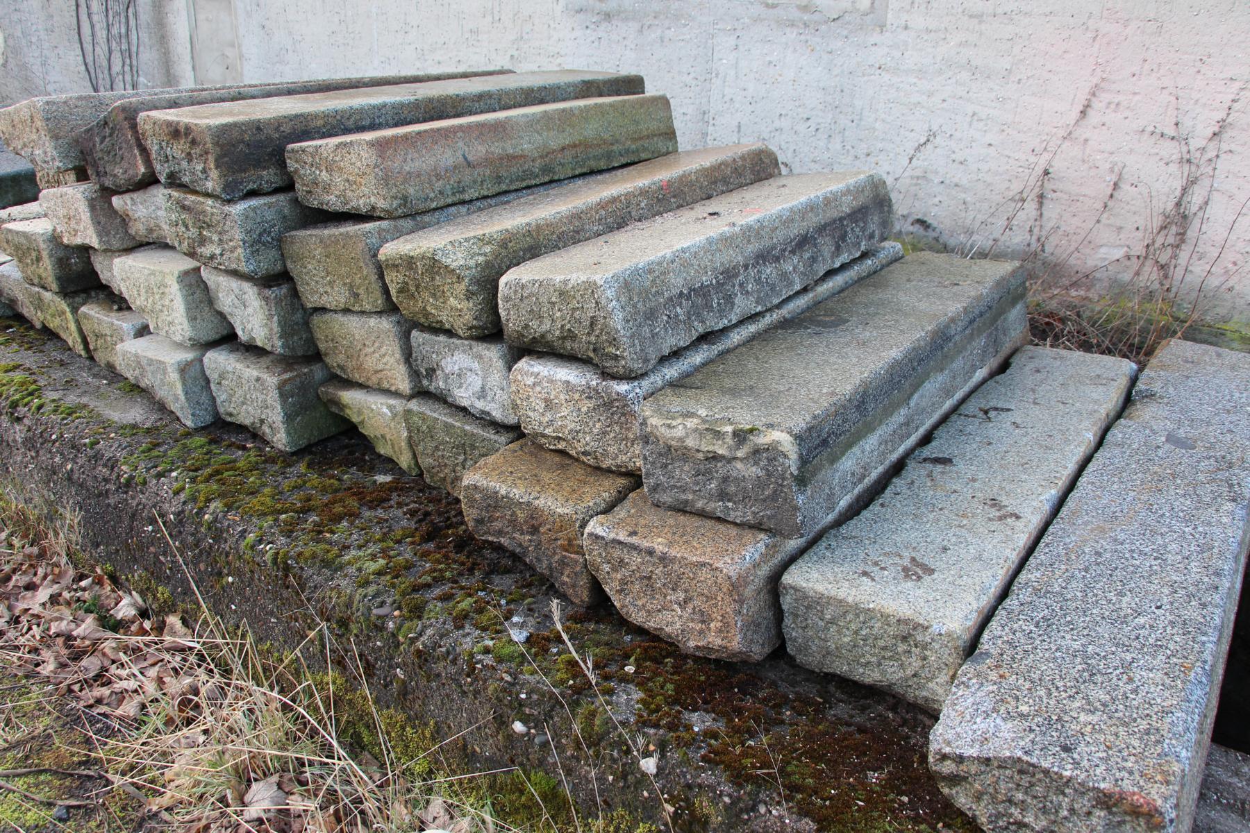 Bordsteine gebraucht, Granit, Berliner Borde, Granitborden
