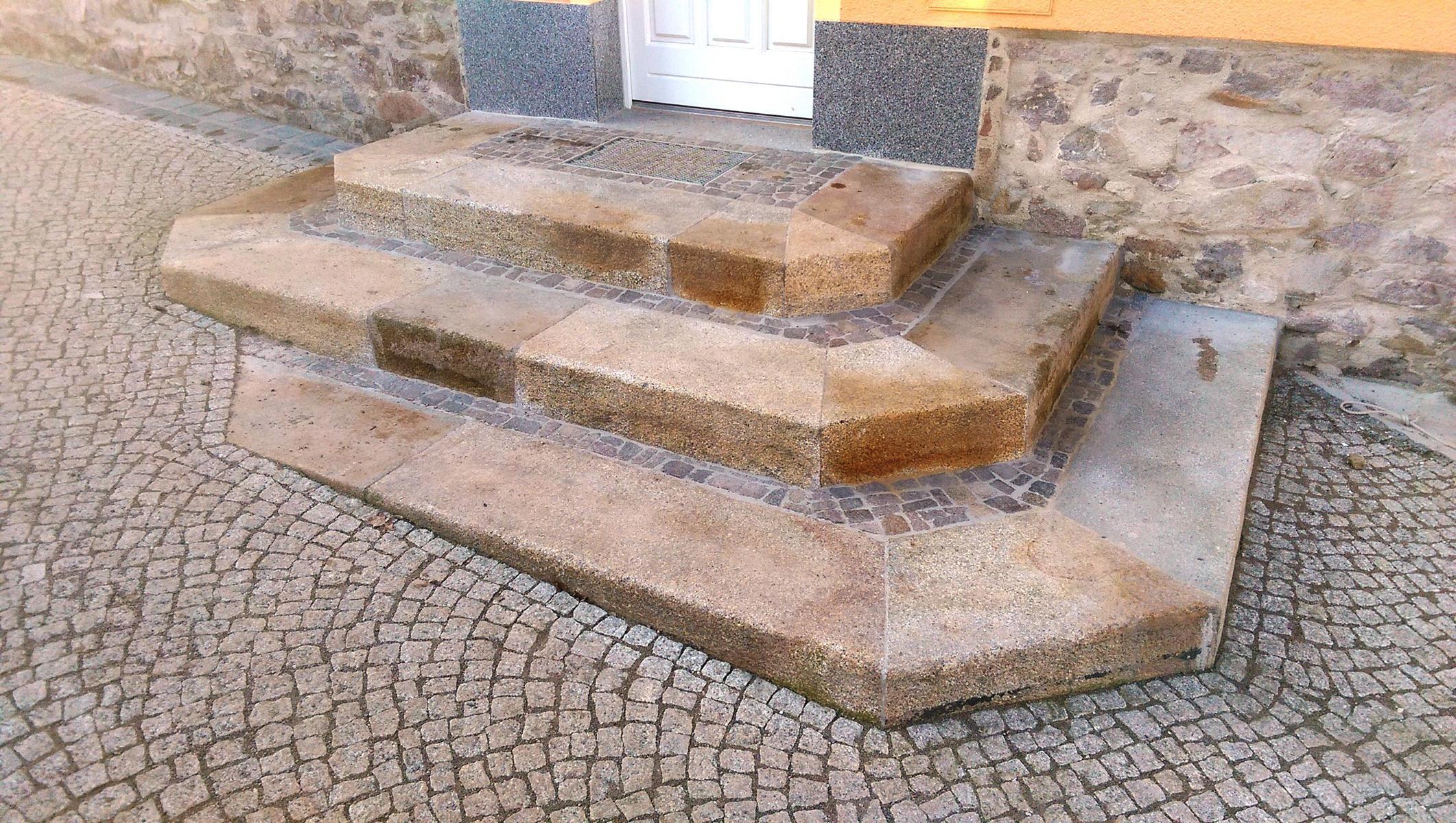 Treppe, Granit, gelb, gebraucht